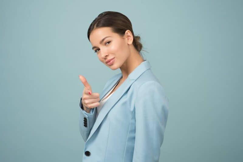 Regular exercise contributes to mental health Woman wearing blue shawl lapel suit jacket