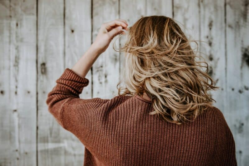 Hair coloring in a natural way Woman with blonde hair