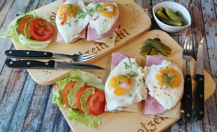 Purpose of proteins Sandvich with eggs, and vegetables