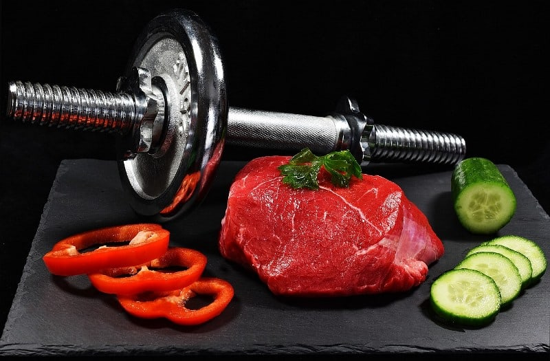 Dumbbell meat and vegetables