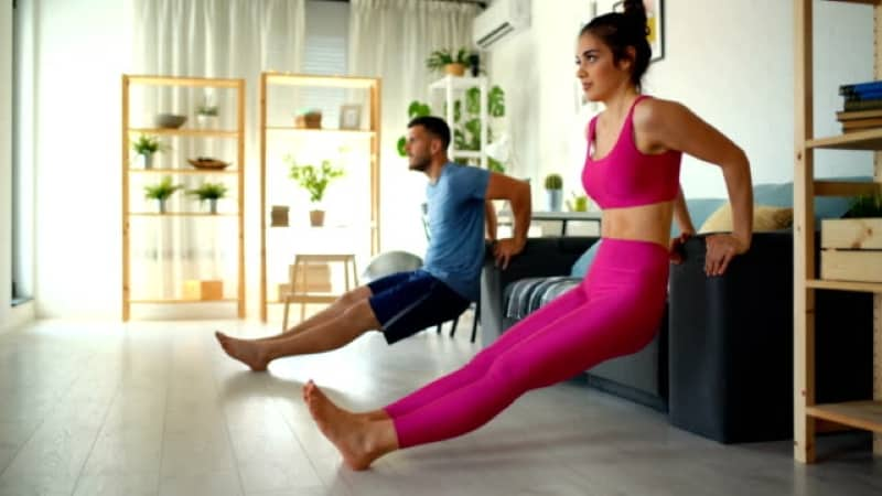 How to do dips at home with and without equipment